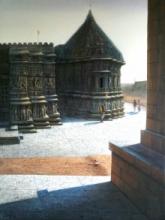 Religious Oil Art Painting title Vitthala Temple Hampi 40 by artist Pravin Pasare