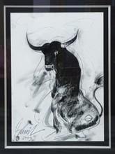 Animals Mixed-media Art Painting title Bull 2 by artist Sunil Das