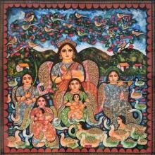 Figurative Watercolor Art Painting title Untitled 2 by artist Jayasri Burman