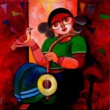 Celebration | Painting by artist Sharmi Dey | acrylic | Canvas
