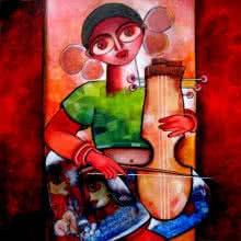 Manganiar | Painting by artist Sharmi Dey | Acrylic | Canvas