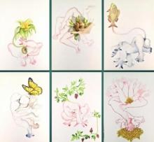 contemporary Watercolor Art Painting title Back To Basic by artist Rasana Bhardwaj