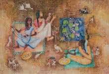 Brata | Painting by artist Arpita Basu | watercolor | Paper