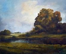 Landscape Oil Art Painting title Nature by artist Biju Thomas