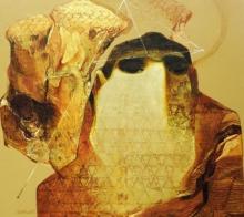 contemporary Acrylic Art Painting title Swayvedan 104 by artist Lakshman Chavan