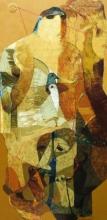 contemporary Acrylic Art Painting title Swayvedan 105 by artist Lakshman Chavan
