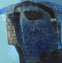 contemporary Acrylic Art Painting title 'Swayvedan 62' by artist Lakshman Chavan