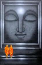 Religious Acrylic Art Painting title 'Divine Light 3' by artist Pradeesh K
