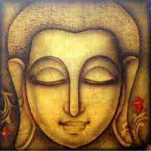 Religious Acrylic Art Painting title 'Buddha 1' by artist Pradeesh K