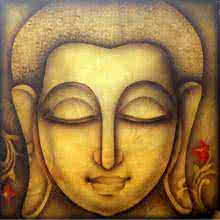 Buddha 1 | Painting by artist Pradeesh K | acrylic | Canvas