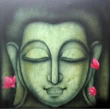 Religious Acrylic Art Painting title 'Buddha 3' by artist Pradeesh K