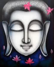 Buddha 4 | Painting by artist Pradeesh K | acrylic | Canvas