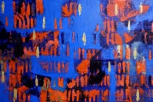 Orange Patterns | Painting by artist Ns Art | acrylic | Canvas