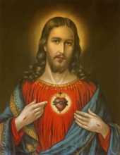 Religious Acrylic Art Painting title Sacred Heart 16 by artist Ns Art
