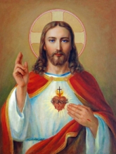 Ns Art | Acrylic Painting title Sacred Heart 17 on Canvas | Artist Ns Art Gallery | ArtZolo.com