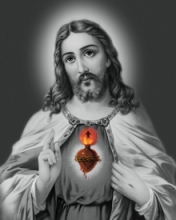 Religious Acrylic Art Painting title Sacred Heart 21 by artist Ns Art