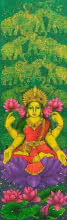 art, painting, acrylic, canvas, religious, lord laxmi