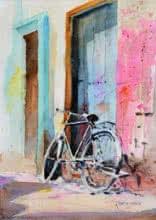 Holi In Varanasi   Painting by artist Ramesh Jhawar   watercolor   Paper