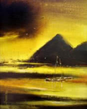 Seascape Acrylic Art Painting title Untitled by artist Soumen Saha