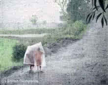Raining All The Day | Painting by artist Shirish Deshpande | oil | Canvas