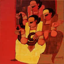 Sarang Waghmare | Acrylic Painting title Jogava 10 on Canvas | Artist Sarang Waghmare Gallery | ArtZolo.com