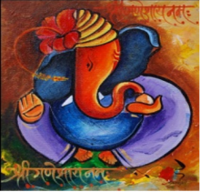 Other Acrylic Art Painting title 'Ganesha018' by artist Sanjay Raut