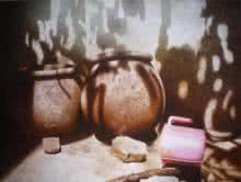 Pots/Vessels Watercolor Art Painting title 'Still Life 1' by artist Raghunath Sahoo