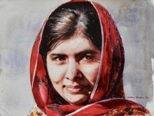 malala portrait realism