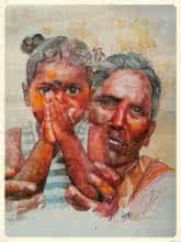 Please | Painting by artist Dr.uday Bhan | watercolor | Paper