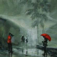Rain Click I | Painting by artist Mopasang Valath | acrylic | Canvas