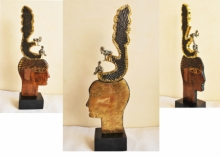 Wood, Metal Sculpture titled 'The Father' by artist Renu Bala