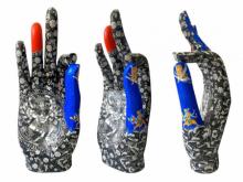 Fiberglass Sculpture titled 'Gyan Mudra' by artist Ashish Tyagi