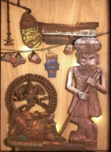 art, sculpture, teak wood, religious