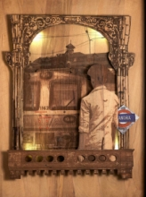 Shriram Mandale | Mumbai Express Sculpture by artist Shriram Mandale on Teak Wood | ArtZolo.com