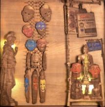art, sculpture, teak wood, religious