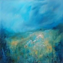 Nature Oil Art Painting title 'Under A Summer Sky' by artist Libbi Gooch