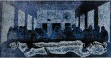 The Last Supper | Painting by artist Mithun Dasgupta | other | Paper
