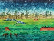 Digbijayee Khatua | Mixed-media Painting title City Unclaimed 1 on Paper | Artist Digbijayee Khatua Gallery | ArtZolo.com