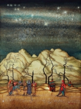 Digbijayee Khatua | Mixed-media Painting title Forest Earth on Paper | Artist Digbijayee Khatua Gallery | ArtZolo.com