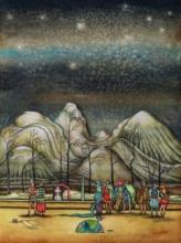 Digbijayee Khatua | Mixed-media Painting title Forest Earth 1 on Paper | Artist Digbijayee Khatua Gallery | ArtZolo.com