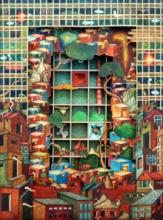 Digbijayee Khatua | Mixed-media Painting title The Boundary on Paper | Artist Digbijayee Khatua Gallery | ArtZolo.com