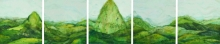 Nature Watercolor Art Painting title 'Vagamon Tea Garden' by artist Digbijayee Khatua