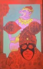 contemporary Acrylic Art Painting title Mask 2 by artist Chaitanya Ingle