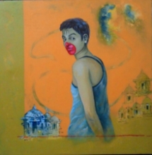 contemporary Acrylic Art Painting title 'Aid' by artist Chaitanya Ingle