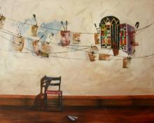 Still-life Acrylic Art Painting title Ray by artist Isha Bawiskar