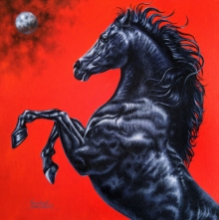 Animals Acrylic Art Painting title Unstoppable by artist Sanket Sawant