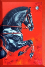 Animals Acrylic Art Painting title 'Unstoppable 2' by artist Sanket Sawant