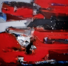 Abstract Acrylic Art Painting title 'Untitled 1' by artist Sachin Pakhale
