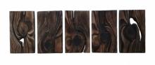 Wood Sculpture titled 'Untitled 3' by artist Tanvi Pujari