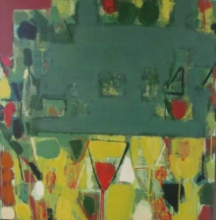 Abstract Acrylic Art Painting title Untitled 6 by artist Ravindra Pawar